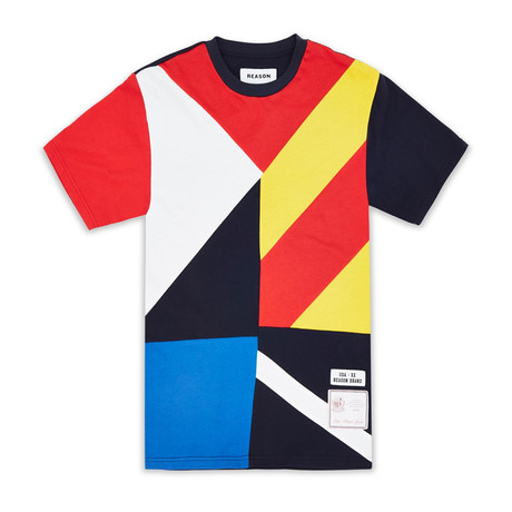 Courtside Tee // Blue + Yellow (S)