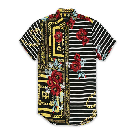 Floral Chains Woven Shirt // Multicolor (S)