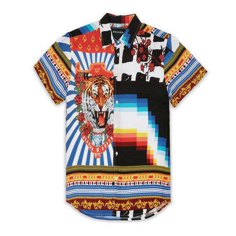 Collision Woven Shirt // Multicolor (S)