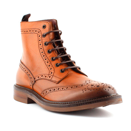 Carter Wingtip Lace-Up Boot // Cognac (Euro: 40)