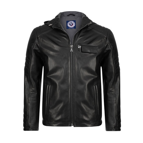 Esteem Leather Jacket // Black (XS)