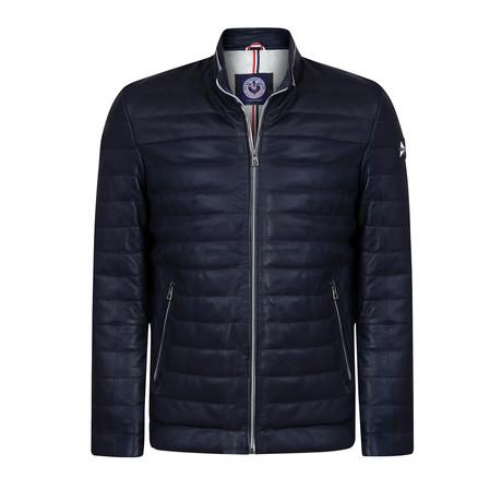 California Leather Jacket // Navy (XS)