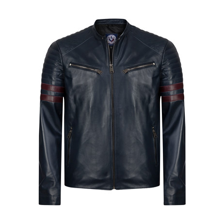 Ruck Leather Jacket // Navy (XS)