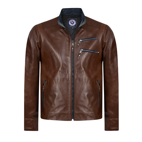 Lineout II Leather Jacket // Brown (XS)