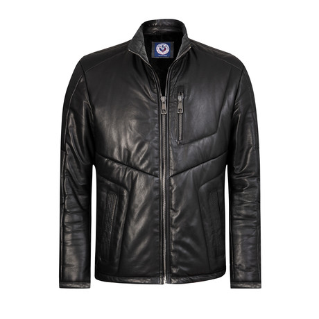 Cooldy Leather Jacket // Black (XS)