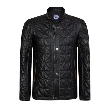 Lineout Leather Jacket // Black (XS)