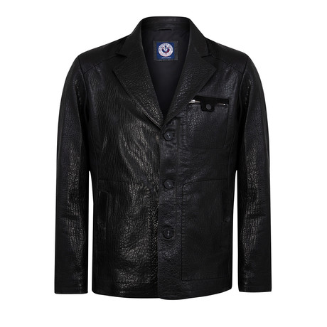 Blazy Leather Jacket // Black (XS)