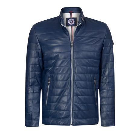 California Leather Jacket // Indigo (XS)