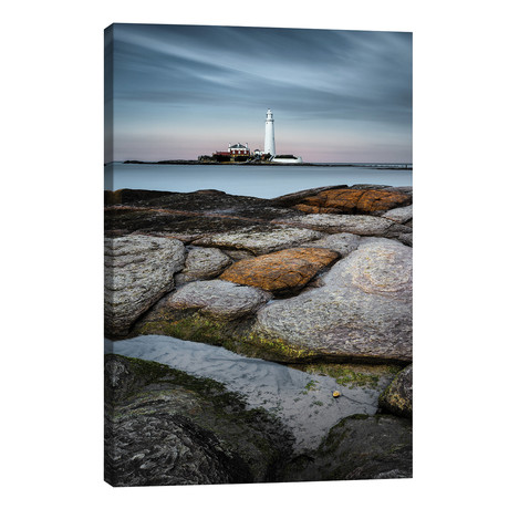 "St Mary's Lighthouse // Dave Bowman (12""W x 18""H x 0.75""D)"