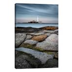 """St Mary's Lighthouse // Dave Bowman (12""""W x 18""""H x 0.75""""D)"""