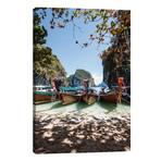 "Thai Boats On A Tropical Island // Matteo Colombo (12""W x 18""H x 0.75""D)"
