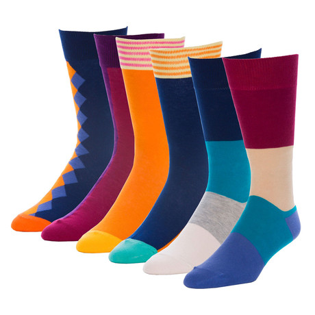 Presidential Departure Crew Sock // Pack of 6