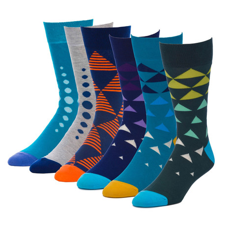 Trek Top Floor Crew Sock // Pack of 6