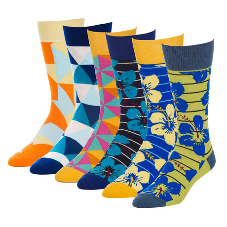 Escape Glacier Crew Sock // Pack of 6