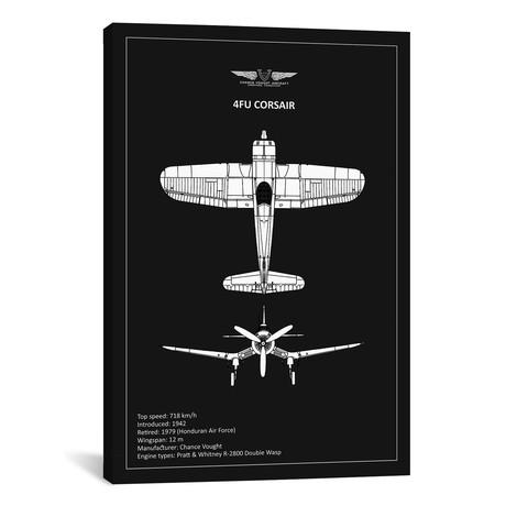 "BP CV F4U-Corsair Black // Mark Rogan (12""W x 18""H x 0.75""D)"