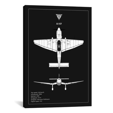 "BP Junkers JU87 Black // Mark Rogan (12""W x 18""H x 0.75""D)"