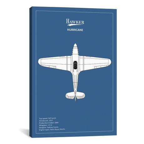 "BP Hawker Hurricane // Mark Rogan (12""W x 18""H x 0.75""D)"