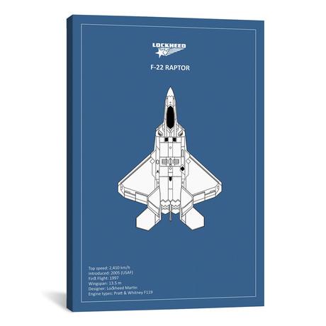 "BP Lockheed F22 Raptor // Mark Rogan (12""W x 18""H x 0.75""D)"