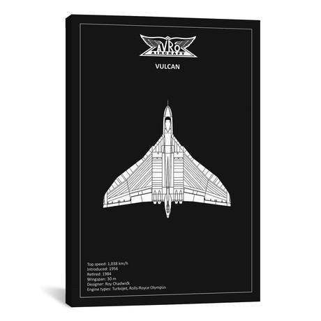 """BP Avro Vulcan Black // Mark Rogan (12""""W x 18""""H x 0.75""""D)"""