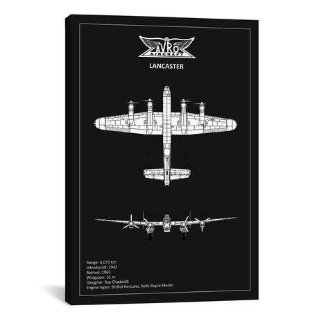 "BP Avro Lancaster Black // Mark Rogan (12""W x 18""H x 0.75""D)"
