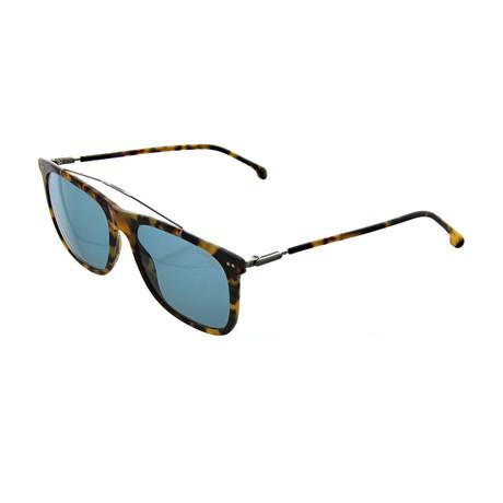 Carrera // Men's Square Sunglasses // Havana Ruthenium + Blue