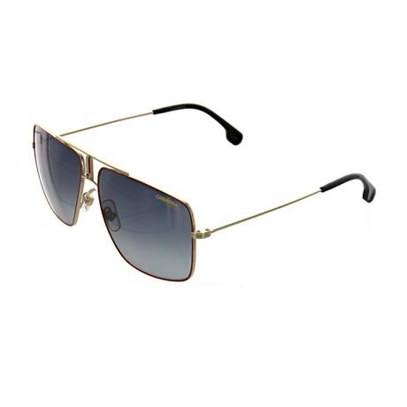 Carrera // Men's Square Sunglasses // Red Gold