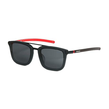 Ducati // Unisex Square Sunglasses // Black + Red