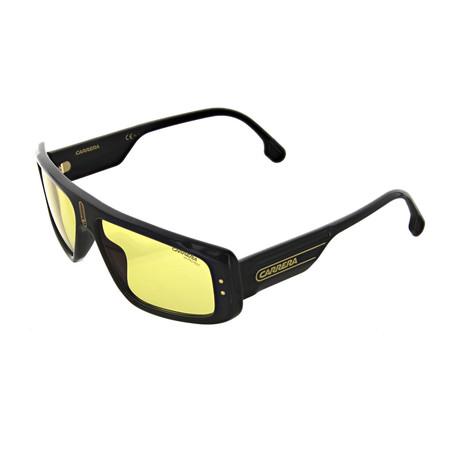 Carrera // Men's Rectangular Sunglasses // Black + Red + Gold