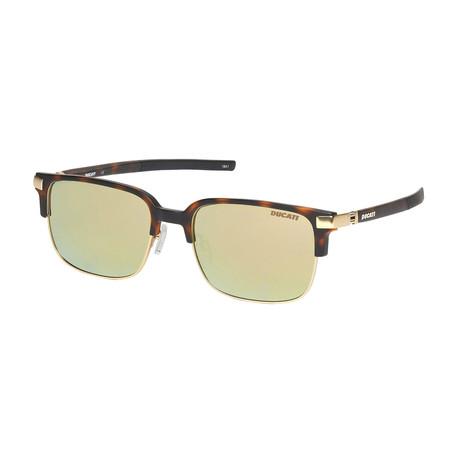 Ducati // Unisex Square Sunglasses // Tortoise + Gold