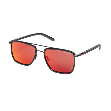 Ducati // Unisex Square Sunglasses // Black + Orange