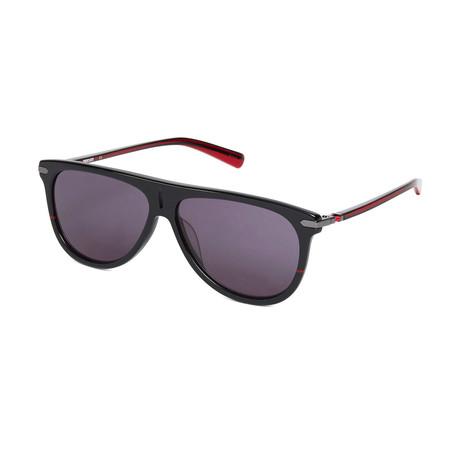 Ducati // Unisex Aviator Sunglasses // Black + Red