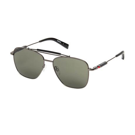Ducati // Unisex Square Sunglasses // Dark Gun + Black