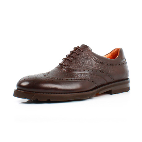 Wing Tip Shoes // Brown (Euro: 39)