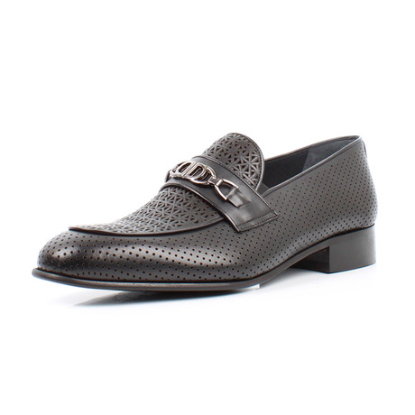 Perforated Loafers // Black (Euro: 39)