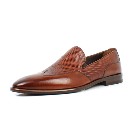Textured Loafers // Brown (Euro: 39)