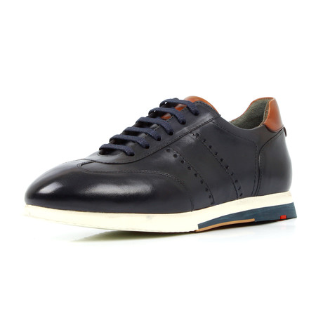 Leather Sneakers // Dark Blue (Euro: 39)
