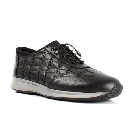 Quilted Sneakers // Black (Euro: 39)