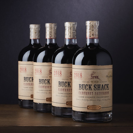 Buck Shack Bourbon Barrel Aged Cabernet Sauvignon // Set of 4 // 750 ml Each