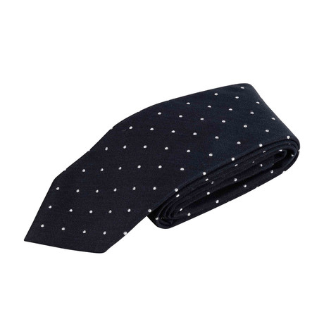 Polka Dot Neck Tie V1 // Navy