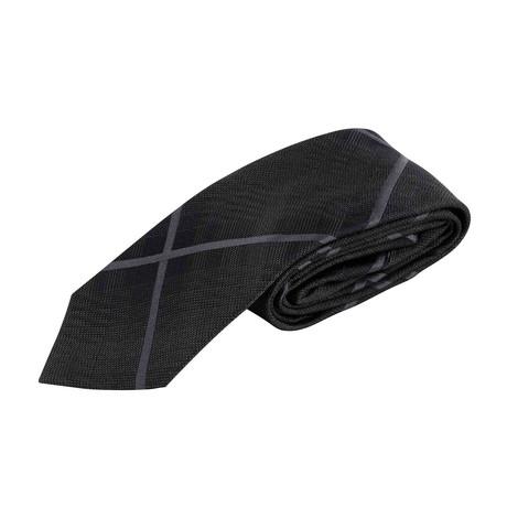 Plaid Neck Tie // Black