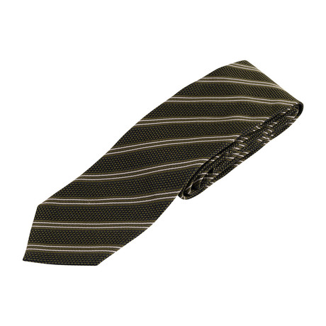 Striped Neck Tie // Green