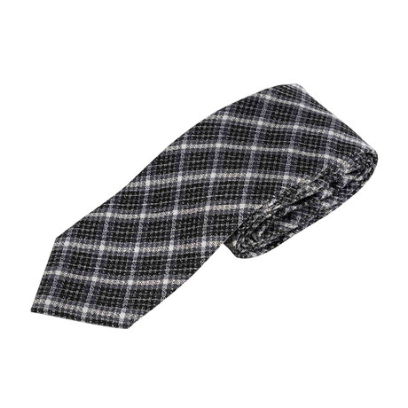 Plaid Neck Tie V2 // Gray