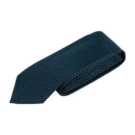 Houndstooth Neck Tie V2 // Blue
