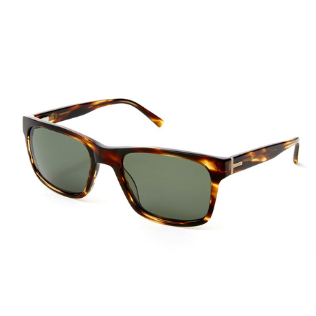 Men's Irvin Rectangle Polarized Sunglasses // Brown Horn