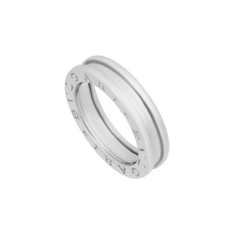 Bulgari 18k White Gold B.Zero1 1 Band Ring // Ring Size: 4.75 // Pre-Owned