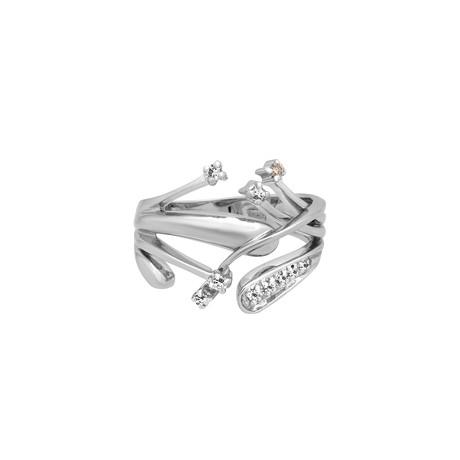 Yukiko 18k White Gold Diamond Ring // Ring Size: 7.25 // Pre-Owned