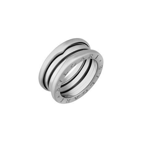 Bulgari 18k White Gold B.Zero1 3 Band Ring // Ring Size: 5.75 // Pre-Owned