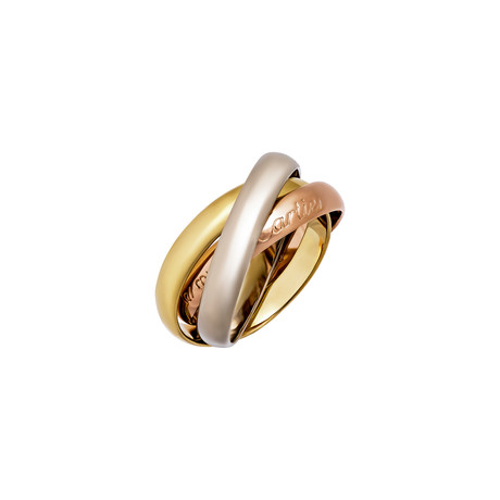 Cartier 18k Three-Tone Gold Trinity Ring // Pre-Owned (Ring Size: 5.25)
