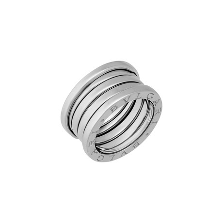 Bulgari 18k White Gold B.Zero1 4 Band Ring // Ring Size: 5.75 // Pre-Owned (Ring Size: 5.25)