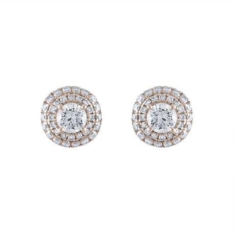 Estate 18k White Gold Diamond Earrings // Pre-Owned